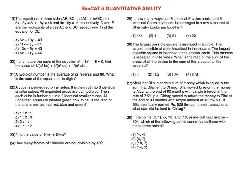 SimCAT 5 QA 3